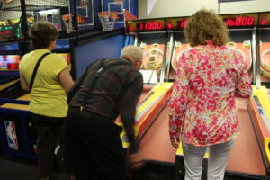 90 year old Grandpa Meiners playing skee ball - he beat everybody!